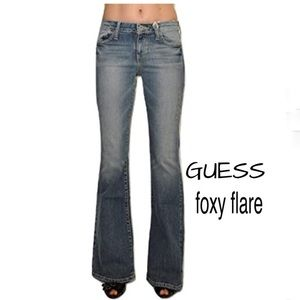 GUESS FOXY FLARE LEG JEANS SIZE 31